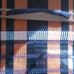 "The ""Her"" scarf on the loom"